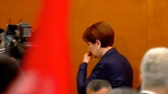 Meral Akşener, parti grubunda kürsüden ağlayarak indi